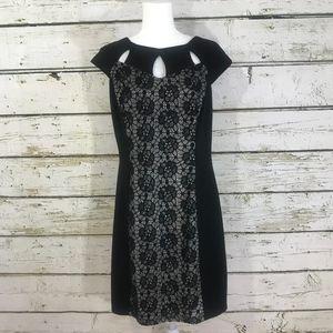 Black and Lace Little Black Dress Size 14